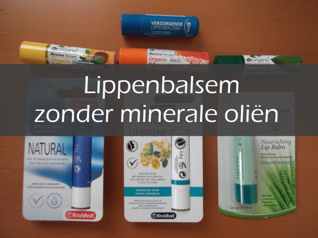 Lippenbalsem zonder minerale oliën