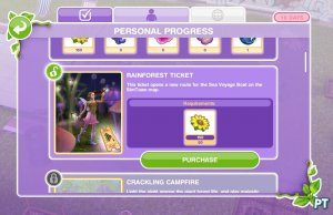 Sims FreePlay Magical Rainforest ticket