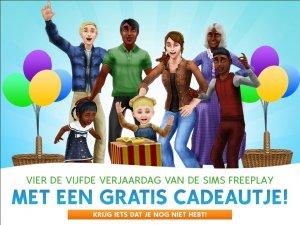 De Sims FreePlay vijfde verjaardag cadeau