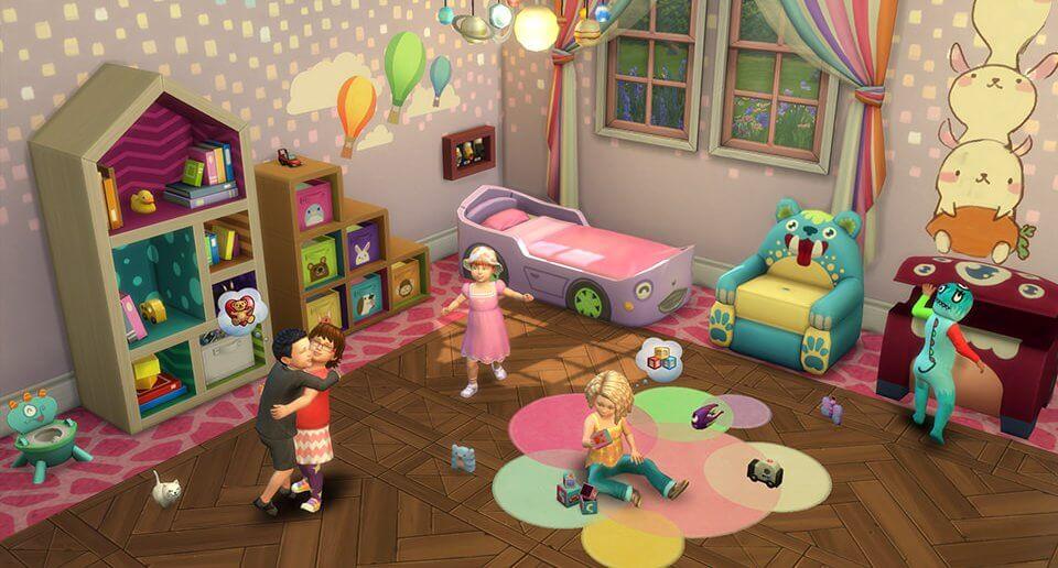 De Sims 4 peuters spelen in de kinderkamer