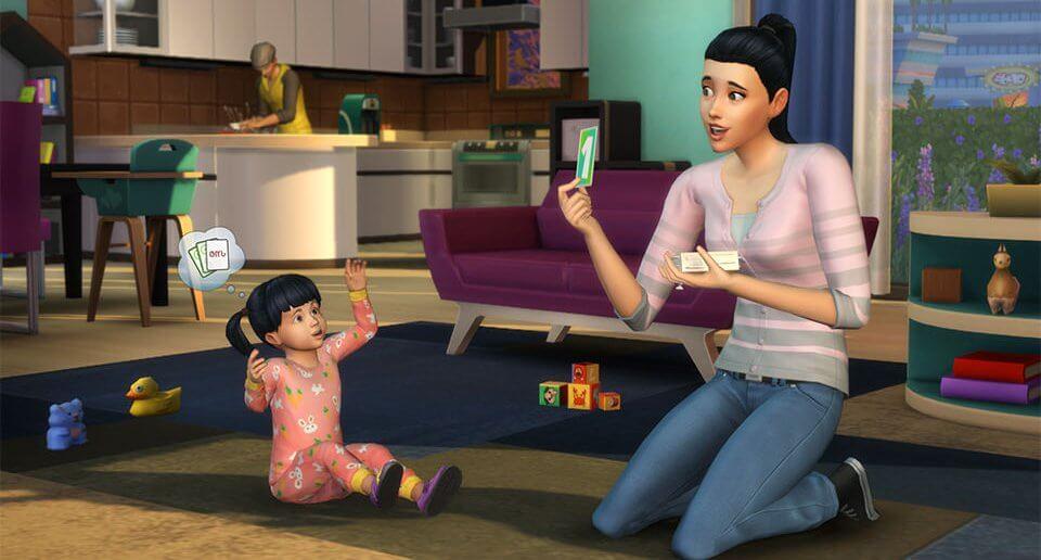 De Sims 4 Peuters spelend vaardigheden leren