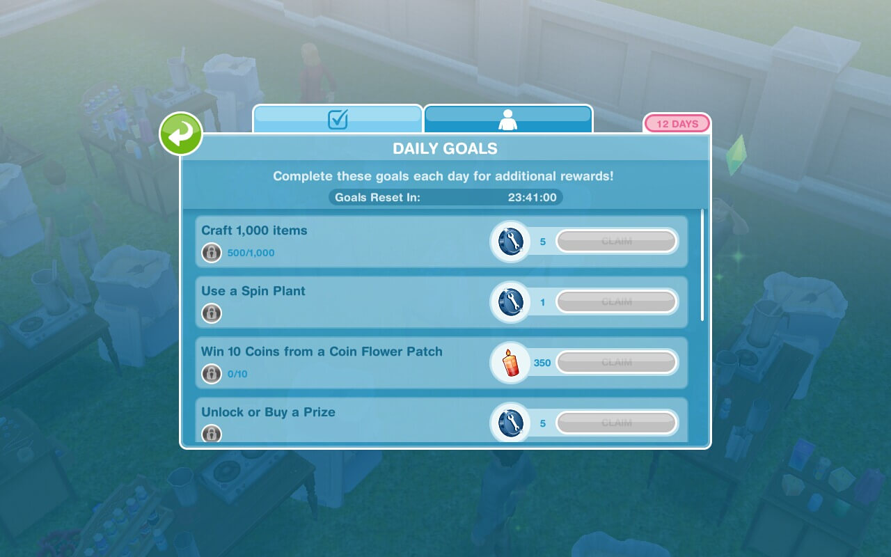 Continue Collecting Arts And Crafts Sims Freeplay
