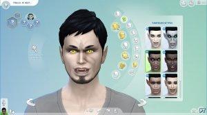 Sims 4 Vampieren CAS gezichtsdetails