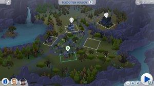 Sims 4 Vampieren Forgotten Hollow kaartoverzicht