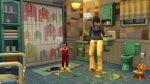 Sims 4 Ouderschap peuter kliedert de badkamer onder met verf