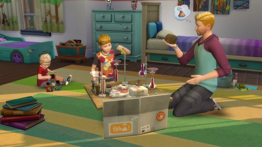Sims 4 Ouderschap schoolprojecten scheikundeset