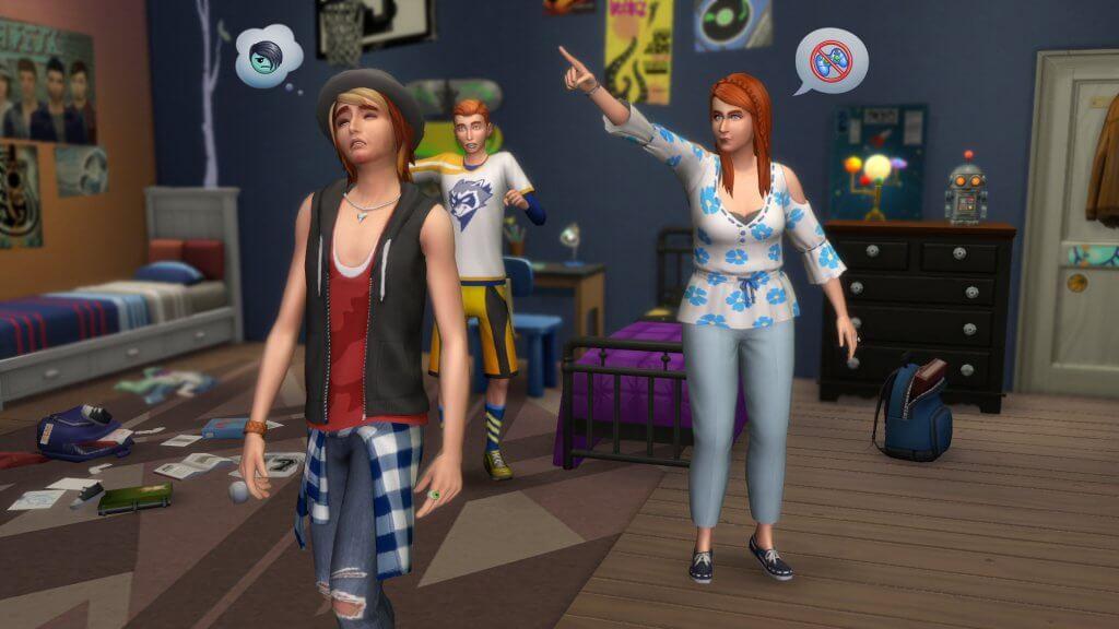 Sims 4 Ouderschap tiener straf geven