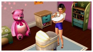 Sims Mobile baby voeden