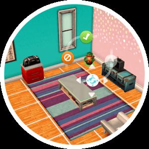 Sims Mobile bouwmodus meubels verplaatsen