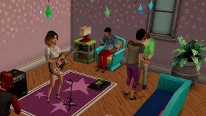 Sims Mobile gitaar spelen