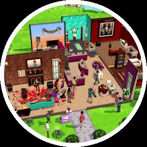 Sims Mobile feesten bezoeken