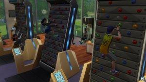 Sims 4 Fitness accessoires review klimmuur verschillende niveaus