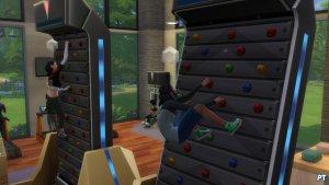 Sims 4 Fitness accessoires review klimmuur doorzettingsvermogen