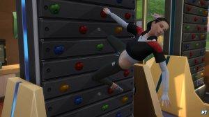 Sims 4 Fitness accessoires review klimmuur uit balans