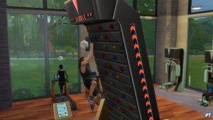 Sims 4 Fitness accessoires review klimmuur uitdaging met overhang