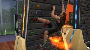 Sims 4 Fitness accessoires review klimmuur heet onder de voeten