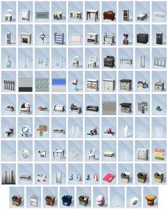 De Sims 4 Ouderschap overzicht van items in Bouwen
