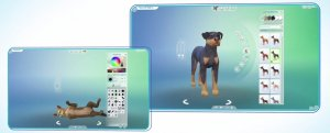 Sims 4 Honden en Katten - Creëer een Huisdier kleurenwiel en hondenras
