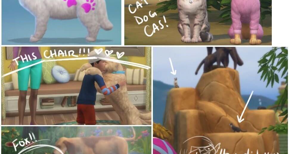 Sims 4 Honden en Katten - Vos en andere details in de trailer