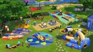 Sims 4 Peuter Accessoires Speeltuin met klimtoestellen, glijbaan en ballenbak