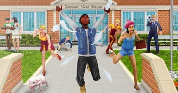 Sims FreePlay Downtown Middelbare school update