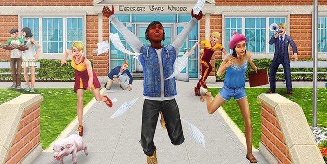 Sims FreePlay Downtown Middelbare school update