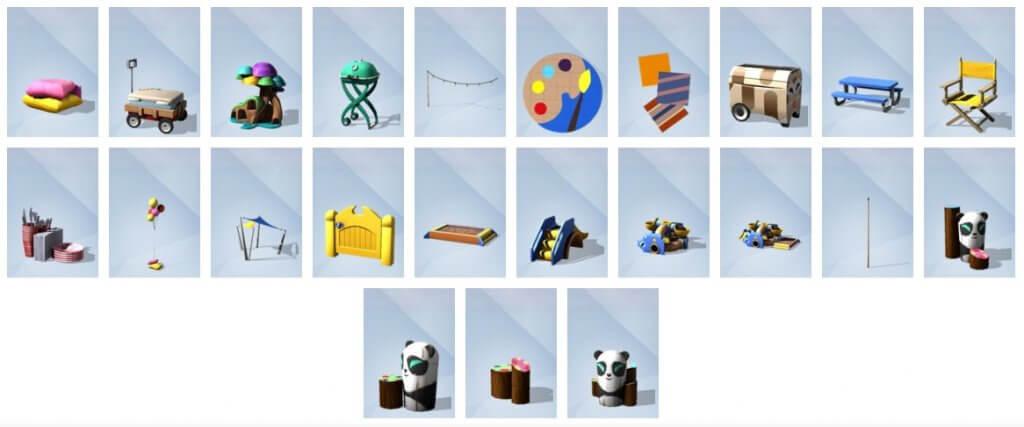 Sims 4 Peuter Accessoires Bouwen overzicht