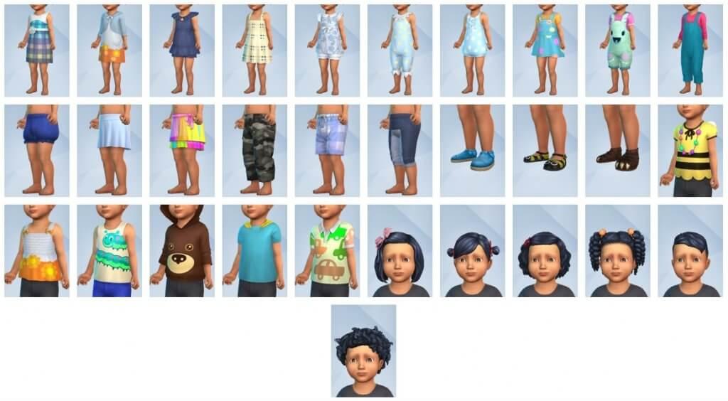 Sims 4 Peuter Accessoires CAS overzicht