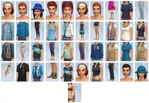 Overzicht CAS-items Sims 4 Jungle Avonturen
