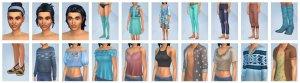Overzicht CAS-items Sims 4 Wasgoed Accessoires
