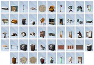 Overzicht voorwerpen Sims 4 Wasgoed Accessoires